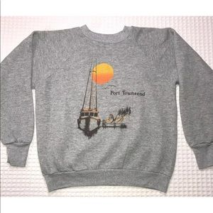 Vintage Gray sweater Port Townsend Size M 38-40
